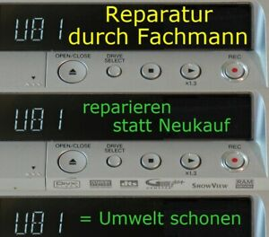 "REPARATUR bei ""U81"" bei PANASONIC DMR-EX80S DMR-EX81S DMR-EX72S DMR-EX71S"