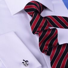 Red & Black Boss Formal Business Striped 3 Inch Tie Mens Professional Fashion