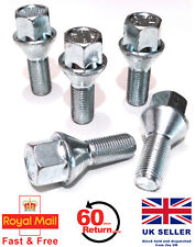 F20 11-16 Locking Wheel Bolts 14x1.25 Nuts Tapered for BMW 1 Series