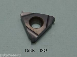 16ER ISO metric external threading inserts 1.0mm to 2.5mm