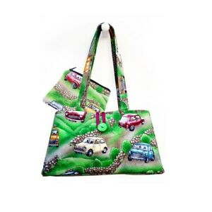 Hergest Cotton Green Handbag and purse combo with Classic Mini design