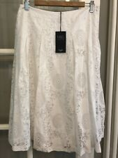 Lovely White M&S White Fully Lined A-line Size 12 BNWT