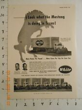 New listing 1952 White Motor Co Cleveland Oh Lone Star Beer truck Print Ad Brewing Co Texas
