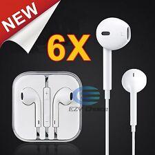 6x Handsfree Headphone Earphone MIC Remote for 7 7P 6P 6S 6 5S 5C 4S SE Koobee