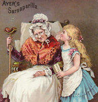 Ayers Sarsaparilla Cure 19th Century Patent Medicine Bottle Victorian Trade Card