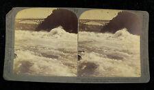 Underwood & Underwood Stereoview Card - Whirpool Rapids at Niagra Falls NY
