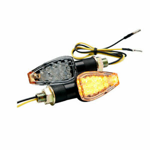 LED Motorcycle Turn Signals Indicator Blinker Lights Amber For Suzuki DRZ400SM Q