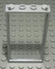 Lego Fenster 1x4x6 new Grau mit Transparenter Scheibe                    (200 #)