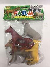 Animales de granja Farm playset goma plástico bolsa con animales