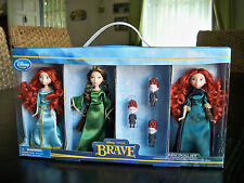 RARE Disney Store BRAVE Merida MINI DOLL SET Girls Princess COLLECTIBLE MINT!!!