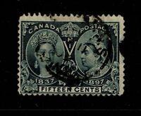 Canada SC# 58, Used, side tear, shallow top margin thin - S3897
