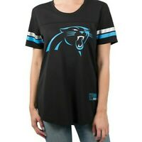 Ultra Game Nfl Women'S Soft Mesh Jersey Varsity Tee Shirt Panthers