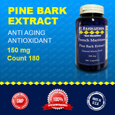 French Maritime Pine Bark Extract 150mg Whole Herb 180 capsules - 6 Month Supply