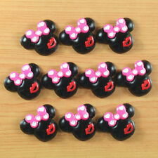 10pcs Father's Day Mother's day Minnie Mouse Heart Bow Kiss Resin Flatback Craft