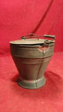 Great Civil War Era Heary Tin Camp Fire Ember Carrier With Lid And Handle