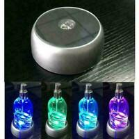Runde 3D Kristallglas Laser 4 LED Batterie leuchten Standfuß DisplayUK Z3F1 K7P7