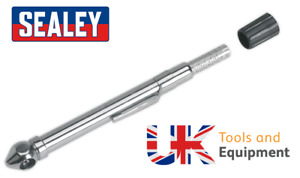 Sealey Tyre Pressure Gauge Pocket Clip Valve Core Removal Tool Car Bike 6-50PSI