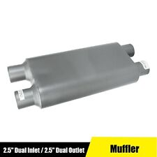 Performance Race Exhaust Muffler 25 Dual Inlet 25 Dual Outlet 23 Length