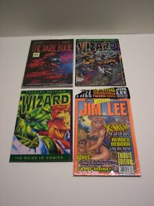 WIZARD PRICE GUIDE LOT, 4 SPECIAL issues, THE DARK BOOK, Tribute Edition/JIM LEE