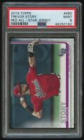 2019 TOPPS SERIES 2 #460 TREVOR STORY RED JERSEY PHOTO VARIATION SP PSA 9