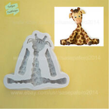 Jungle Safari Animal Giraffe silicone mold.For fondant, chocolate, resin, clay.