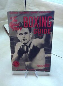 VINTAGE 1944 BOXING GUIDE COLLEGIATE OFFICIAL RULES (96) PAGES MANY PHOTOS