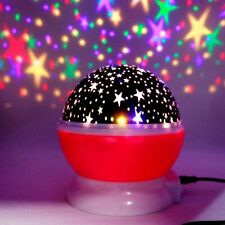 Novelty LED Rotating Star Projector Lighting Moon Starry Sky Children Baby Night