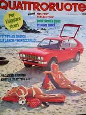 Quattroruote 236 1975 Fittipaldi giudica la Lancia Montecarlo. BMW Citroen [Q95]