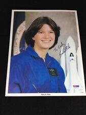 Sally Ride Astronaut Autograph Signed 8X10 Photo PSA/DNA LOA Grade 8 NM-MT