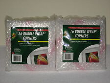 """96 Duck Thick Cushioned Bubble Wrap Corners 8"""" X 8"""" X 11.3"""" Protective Padding"""