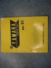 YAMAHA PARTS LIST NUMBERS MANUAL 1971 V7E U7E