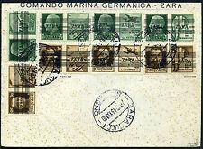 Besetzung Zara Propaganda Marken-Serie auf Umschlag 1943 geprüft (S10481)