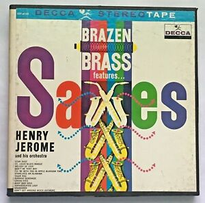 7-1/2ips Brazen Brass features Saxes  Henry Jerome  Reel Tape Guaranteed