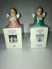 2 Pc Goebel Angel Ornament 1999 2000 w/ Boxes
