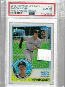 Aaron Judge 2018 Topps Silver Pack 1983 mojo chrome PSA 10 -- Yankees