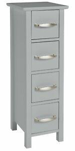 Slim Drawers Cabinet Narrow Shelving Storage Furniture Modern Cupboard Unit