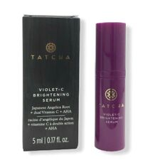 TATCHA Violet-C Brightening Serum Travel Size 5ml/.17oz New in Box