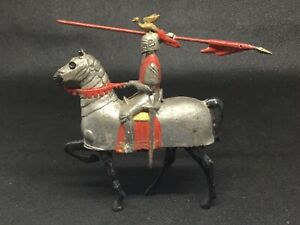 Britains Knight In Armour Riding Armoured Mount  (lime Green 545) Hollow Cast