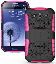 PINK GRENADE RUGGED SKIN HARD CASE COVER STAND FOR SAMSUNG GALAXY GRAND DUOS