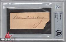 President William McKinley signed cut Beckett BAS Slabbed Auto Bold d.1901 C478
