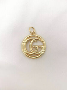 Gucci Gold Metal Button Zipper Pull, 23mm, Double-sided