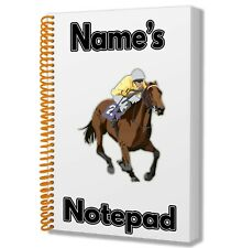 A5 Personalised Notebook Birthday Christmas Gift Mens Dad Grandad Horse Racing