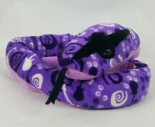 "Toys R Us Snake 50"" Plush Purple Black White Guitars Jumbo Stuffed Animal"