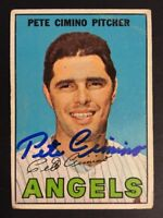 Pete Cimino Angels signed 1967 Topps baseball card #34 Auto Autograph 1