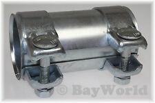 1 St. Auspuff Universal Rohrverbinder 59x63,5x125mm Doppelschelle Opel 59x125 mm