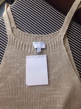 Witchery ❤️ Raw Oat Knit Tank Top RRP $99.95 Size M Cotton / Linen