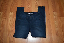 NWT Womens SEVEN 7 Homer Blue Wash Tummyless Skinny Denim Jeans Pants Sz 14 $69