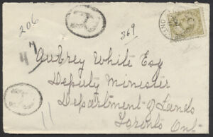1911 Port Dalhousie Ont to House Of Assembly Toronto, Registered, #92 7c Edward