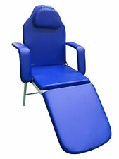 3Fold Portable Tattoo Facial Bed Beauty Salon Massage Table Chair +Free case blu
