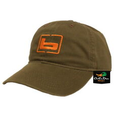 "NEW BANDED GEAR RELAX CAP HAT OLIVE WITH ORANGE  ""b"" LOGO ADJUSTABLE"